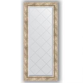 Зеркало с гравировкой поворотное Evoform Exclusive-G 53x123 см, в багетной раме - прованс с плетением 70 мм (BY 4048)