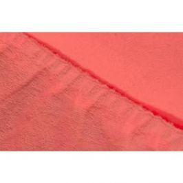 Простыня Ecotex махровая на резинке 180х200х20 см (ПРМ18 коралловый)