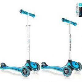 Самокат 3-х колесный Y-Scoo RT GLOBBER My Free NEW Technology blue aqua с блокировкой колес
