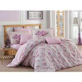 Комплект постельного белья Hobby home collection Евро, поплин, Flora, лиловый (1501001117)