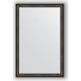 Зеркало с фацетом в багетной раме поворотное Evoform Exclusive 115x175 см, черный ардеко 81 мм (BY 1215)