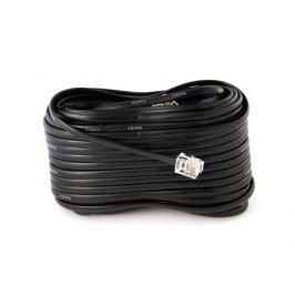 шнур линейный телеф. 20м чёрный