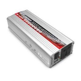 Преобразователь напряжения автомобильный AVS IN-1500W-24 (24В > 220В, 1500 Вт, USB)