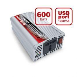Преобразователь напряжения автомобильный AVS IN-600W-24 (24В > 220В, 600 Вт, USB)