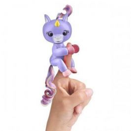 FINGERLINGS Интерактивный единорог АЛИКА (пурпурный), 12 см, FINGERLINGS