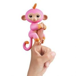 FINGERLINGS Интерактивная обезьянка САММЕР (розовая с оранжевым), 12 см, FINGERLINGS