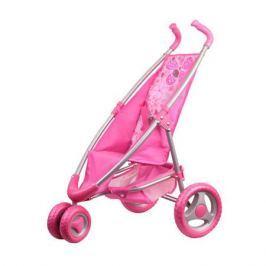 Коляска прогулочная розовая (поворотные передние колеса), Gulliver