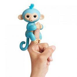 FINGERLINGS Интерактивная обезьянка ЕДДИ (голубая), 12 см, FINGERLINGS