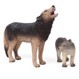 Набор фигурок Mojo в индивидуальной упаковке (S): Воющий волк (M) и Волчонок (S), Mojo