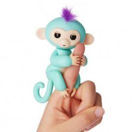 FINGERLINGS Интерактивная обезьянка КИКИ (светло пурпурная), 12 см, FINGERLINGS
