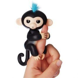 FINGERLINGS Интерактивная обезьянка ФИНН (черная), 12 см, FINGERLINGS