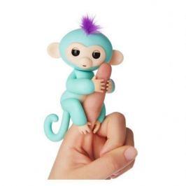 FINGERLINGS Интерактивная обезьянка ЗОЯ (зеленая), 12 см, FINGERLINGS