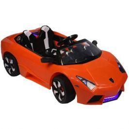 Электромобиль Lamborghini Aventador с MP3/FM и пультом управления для родителей , оранжевый