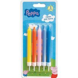 Набор свечей с держателями, Peppa Pig