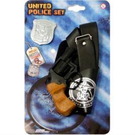 Набор полицейского с пистолетом, кобурой, ремнем, значком и жетоном Polizei United Police-Set, блист