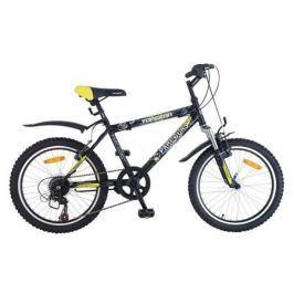Велосипед Топ Гир,Parcours 210, цвет: черный/желтый, Top Gear