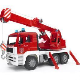 Пожарная машина автокран MAN с модулем со световыми и звуковыми эффектами, BRUDER