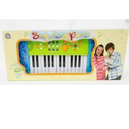 Инстр. муз. на батар. Синтезатор Sing-Along Piano,25 клав.,Potex, арт.539A-blue