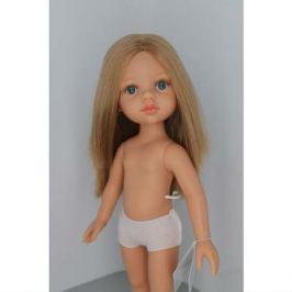 Кукла Карла б/о, 32 см (прямые волосы, без челки, синие глаза, пробор по центру), Paola Reina