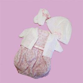 Комплект одежды с розовым кардиганом и шляпкой для Оливии, Vestida de Azul