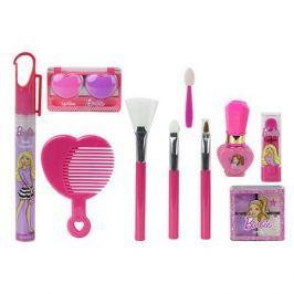 Barbie Игровой набор детской декоративной косметики с поясом визажиста, Markwins