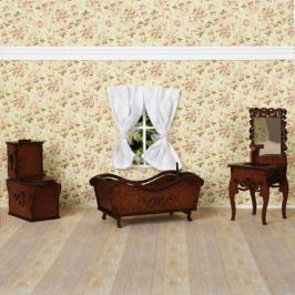 Ванная комната (унитаз, ванна, раковина с зеркалом)(коричневый), ЯиГрушка