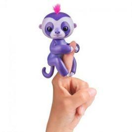 FINGERLINGS Интерактивный ленивец МАРДЖ (пурпурный), 12 см, FINGERLINGS