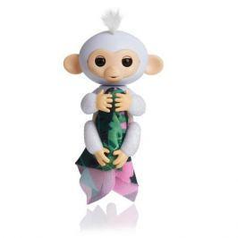 FINGERLINGS Интерактивная обезьянка ШУГАР (белая), 12 см, FINGERLINGS