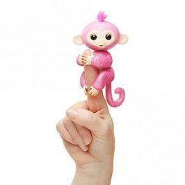 FINGERLINGS Интерактивная обезьянка РОЗА (розовая), 12 см, FINGERLINGS