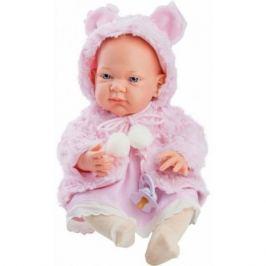 Кукла Бэби в розовой накидке, 36 см, Paola Reina
