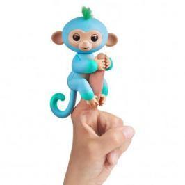 FINGERLINGS Интерактивная обезьянка ЧАРЛИ (голубая с зеленым), 12 см, FINGERLINGS