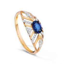 Кольцо с сапфирами и бриллиантами из розового золота VALTERA 83409