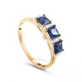 Кольцо с сапфирами и бриллиантами из розового золота VALTERA 91807