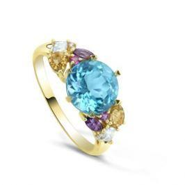 Кольцо с полудрагоценными камнями из желтого золота VALTERA 82411