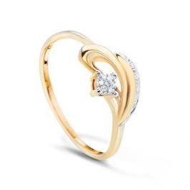 Кольцо с бриллиантами из розового золота VALTERA 52103