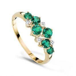 Кольцо с изумрудами и бриллиантами из розового золота VALTERA 89941