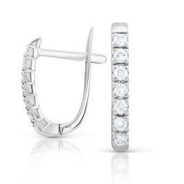 Серьги с бриллиантами из белого золота VALTERA 92047