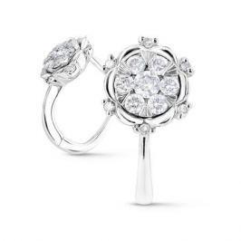 Серьги с бриллиантами из белого золота VALTERA 61805
