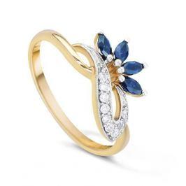 Кольцо с сапфирами и бриллиантами из розового золота VALTERA 20935