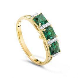 Кольцо с изумрудами и бриллиантами из розового золота VALTERA 91777