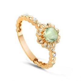 Кольцо с аметистами и бриллиантами из желтого золота VALTERA 53870
