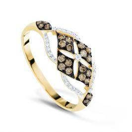 Кольцо с бриллиантами из желтого золота VALTERA 66006