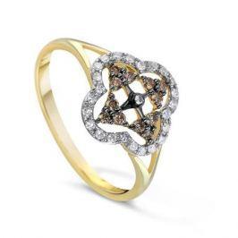 Кольцо с бриллиантами из желтого золота VALTERA 68380