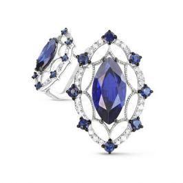 Серьги с сапфирами и бриллиантами из белого золота VALTERA 65757