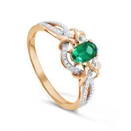 Кольцо с изумрудами и бриллиантами из розового золота VALTERA 92049