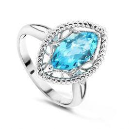 Кольцо с бриллиантами и топазами из белого золота VALTERA 53082