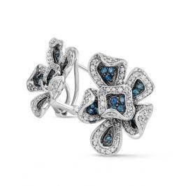 Серьги с сапфирами и бриллиантами из белого золота VALTERA 42341