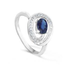 Кольцо с сапфирами и бриллиантами из белого золота VALTERA 49553