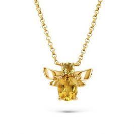 Колье с цитринами из желтого золота VALTERA 53394