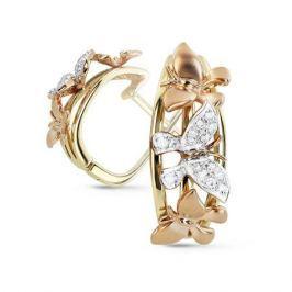 Серьги с бриллиантами из желтого золота VALTERA 70189